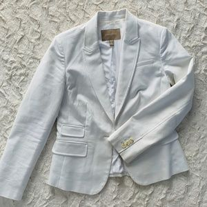 White Banana Republic Fitted Blazer Size 4P